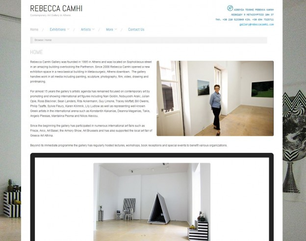 RebeccaCamhi.com ScreenShot